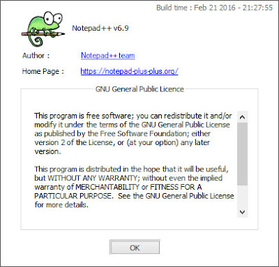 Download Notepad ++ v6.9 Terbaru