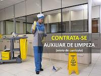 Estamos contratando Auxiliar de Limpeza