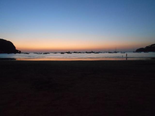 Sunset on the beach San Juan del Sur, Nicaragua