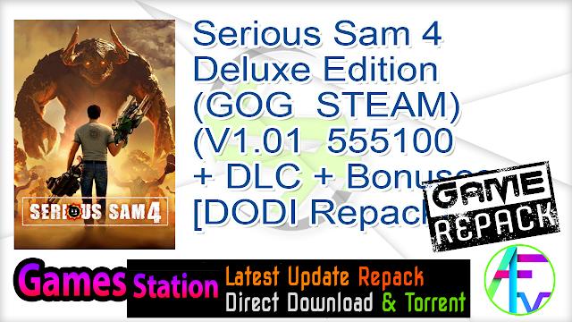 Serious Sam 4 – Deluxe Edition (GOG  STEAM) (V1.01  555100 + DLC + Bonuses + Multiplayer + MULTi13) (From 25.7 GB) – [DODI Repack]