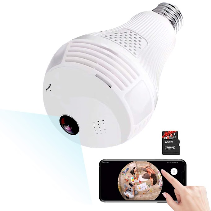 Light Bulb WiFi Security Update Camera Review