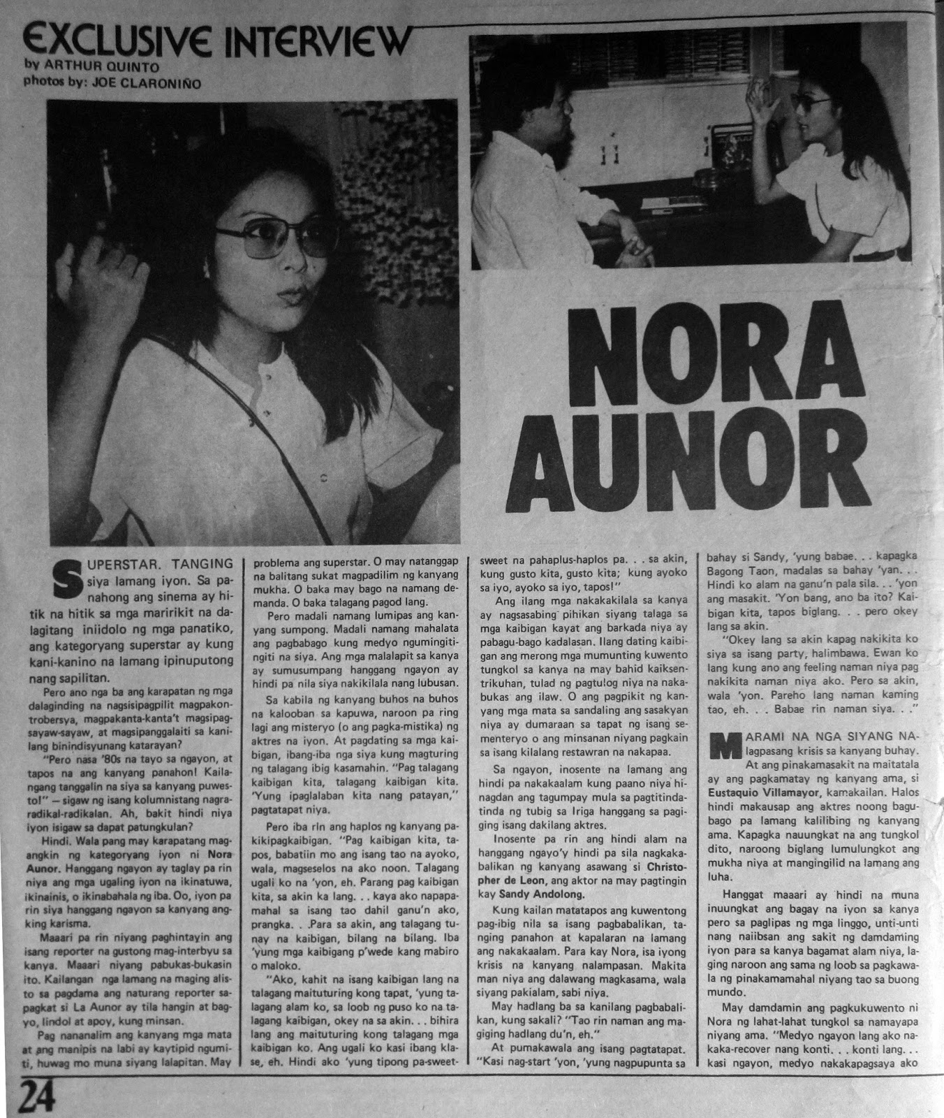 Exclusive Interviews Pictures More: PELIKULA, ATBP.: EXCLUSIVE INTERVIEW: NORA AUNOR (by