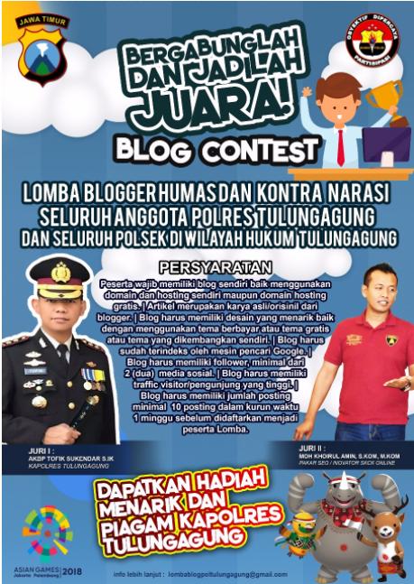 Blog Contest Polisi Tulungagung, Ayooo Bergabung