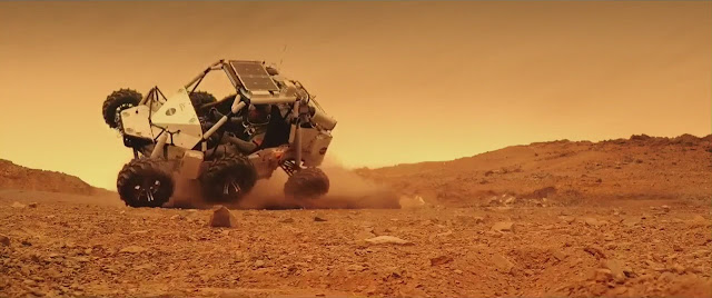 The Space Between Us Mars movie image - rover crash