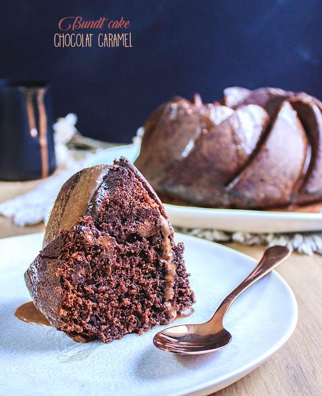 recette de gateau au chocolat et caramel