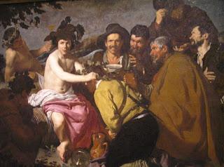 El triunfo de Baco de Velázquez. Museo del Prado, Madrid.