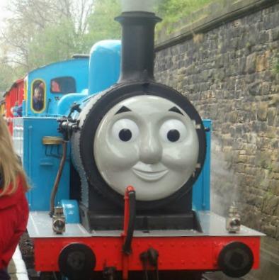 Close up of Thomas the tank Engine at East Lancashire Railway