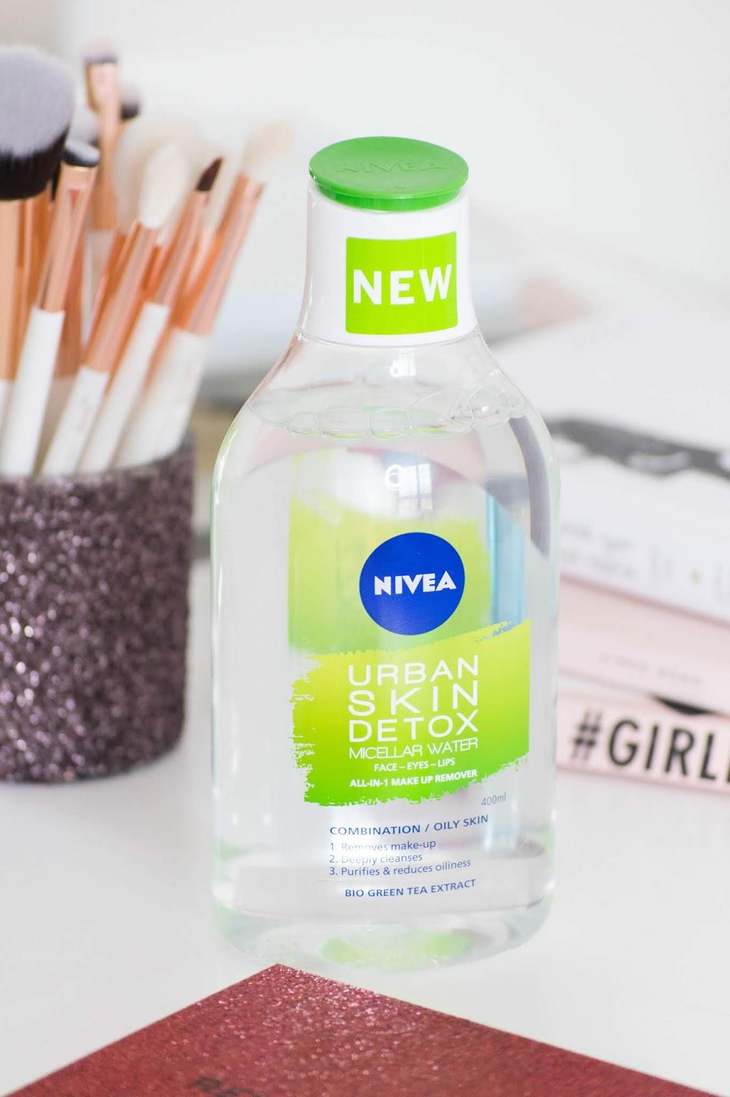 água micelar nivea urban skin detox