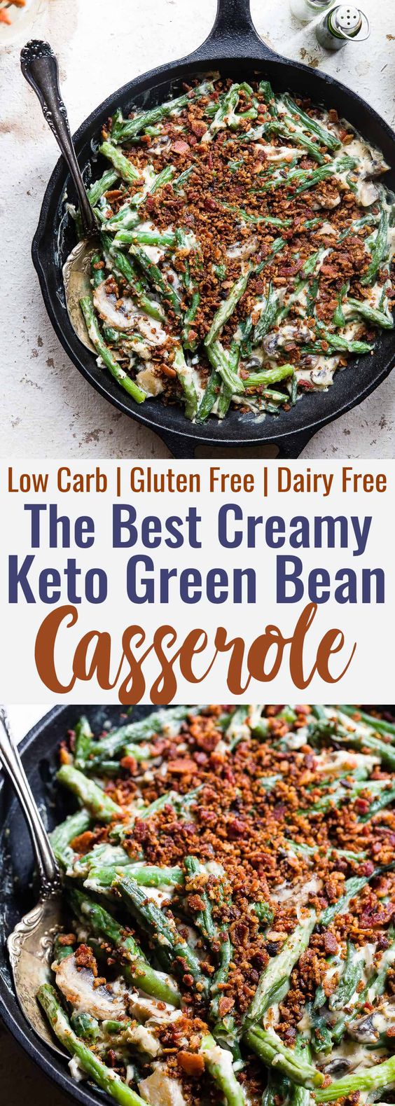 The Best Creamy Keto Green Bean Casserole