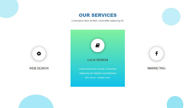Responsive Bootstrap Service Section with Animation