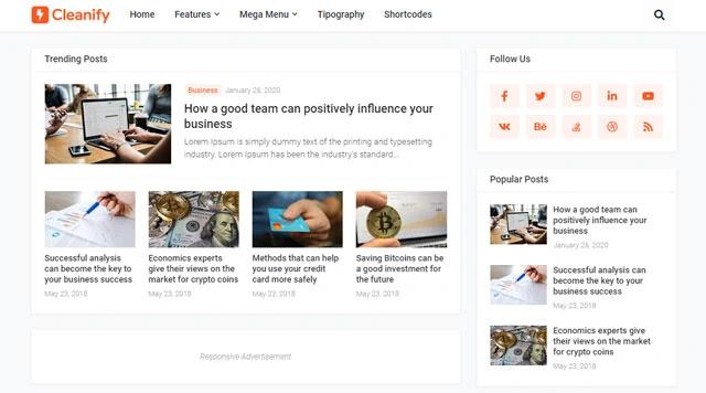 قالب بلوجر Cleanify البسيط و السريع لتصدر محركات البحث