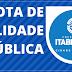 ITABERABA: NOTA DE UTILIDADE PÚBLICA