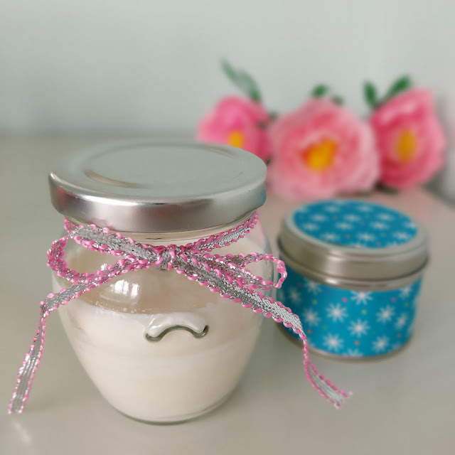 Simple handmade candles