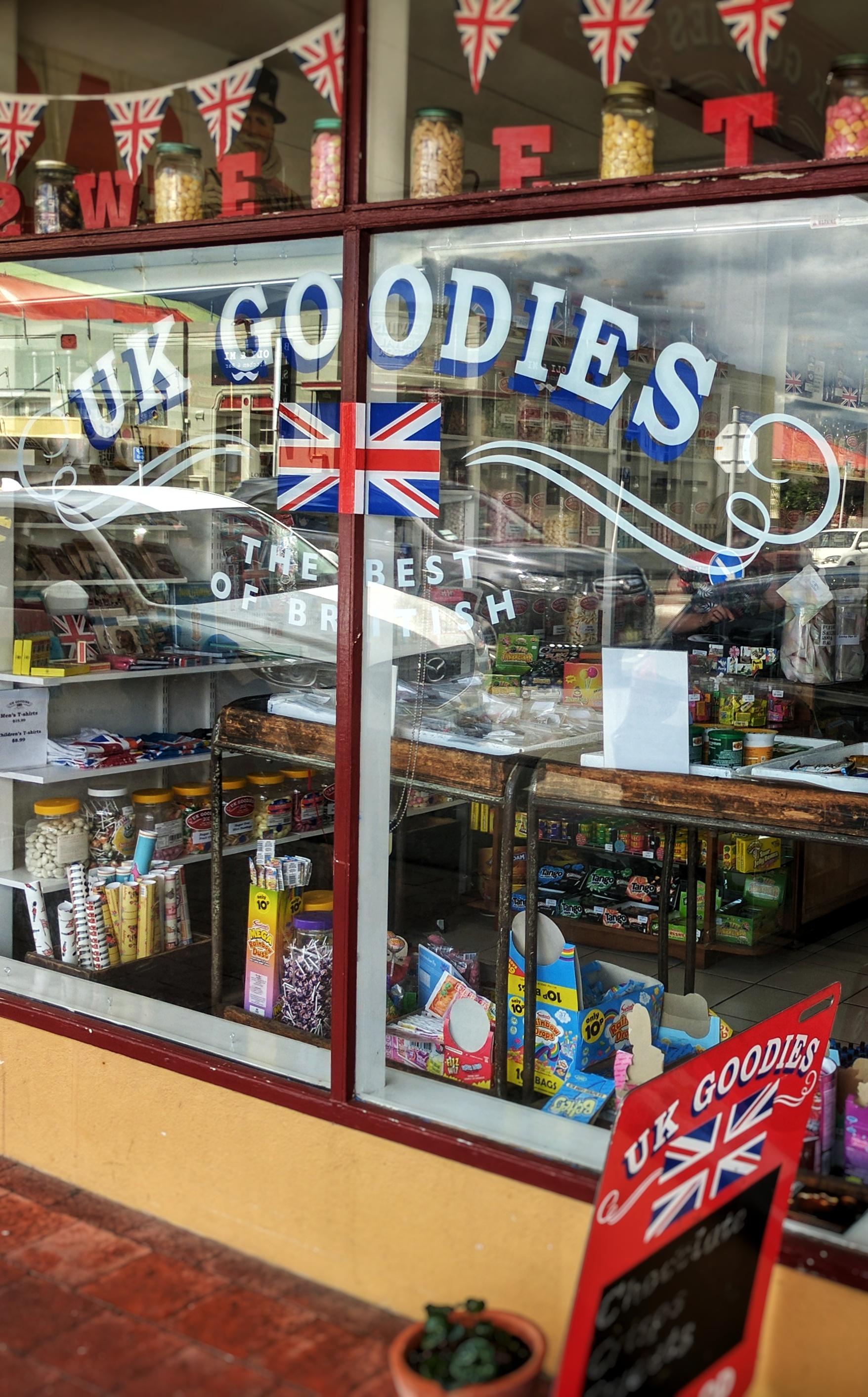 UK Goodies shop front (Petone, NZ)