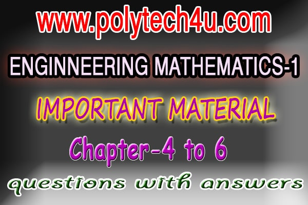 Engineering mathematics material c09 c14 c16 c18 - questions with solved answers | Sbtetap