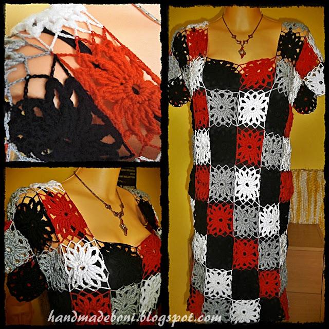 Sukienka z szydełkowych motywów. Zrób razem ze mną :-)