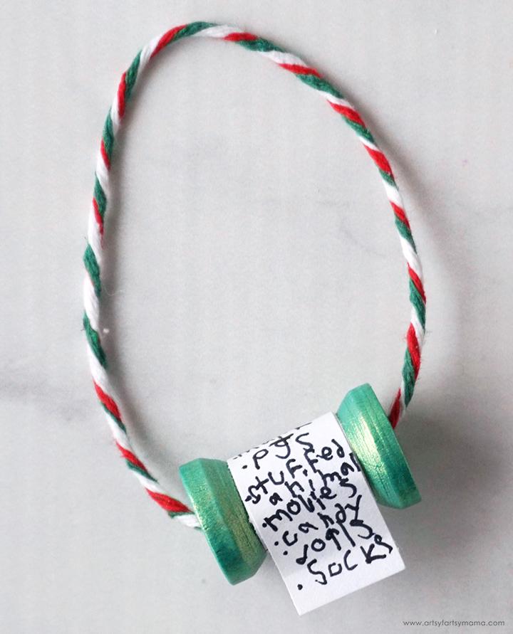 Christmas Wish List Ornaments