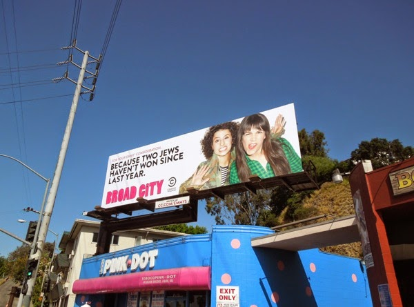 Broad City Emmy Consideration 2014 billboard