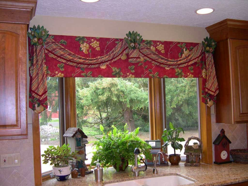 Curtain Ideas Red And White Checkered Kitchen Curtains