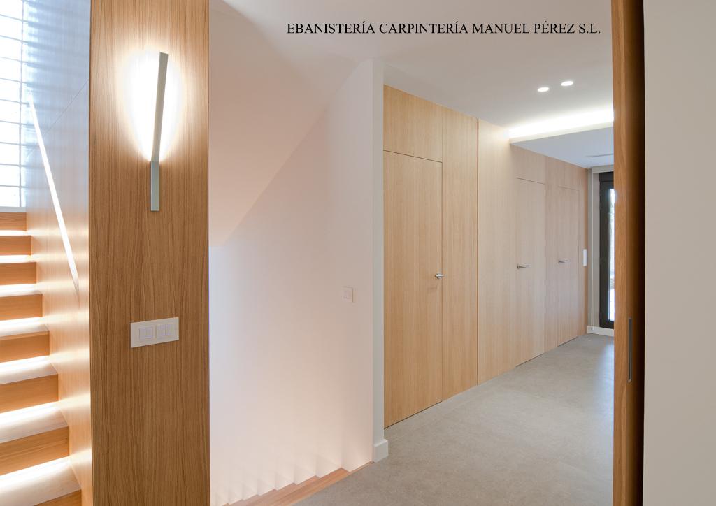Ebanisteria carpinteria manuel perez zaragoza for Puertas correderas salon decoracion