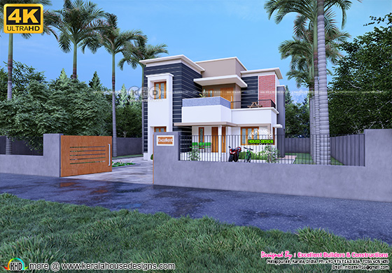 1405 sq-ft 4  bedroom contemporary house