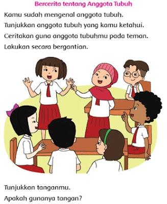 Bercerita tentang anggota Tubuh Materi SD Kelas 1