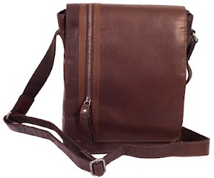 Baltimore Mini Messenger Leather Bag, Blokes Bags