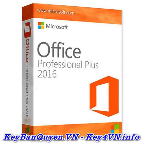 Mua bán key bản quyền Office 2016 Pro Plus (365 ) Full 32 và 64 Bit.