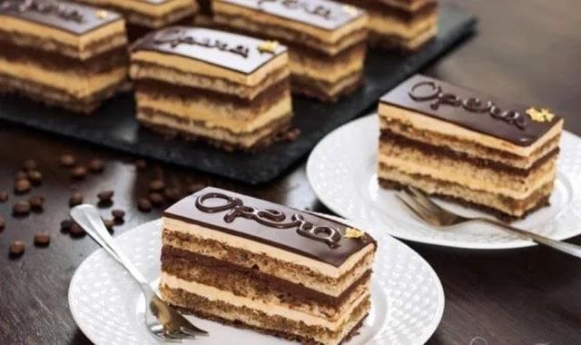 الحلويات الفرنسية أوبرا كيك