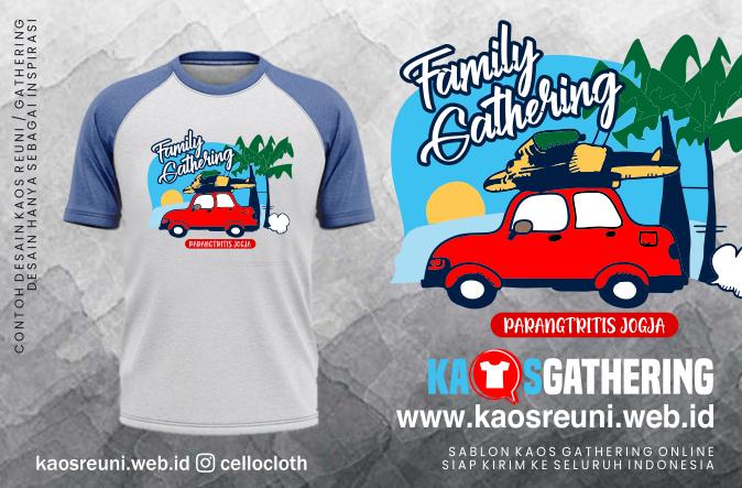Parangtritis Jogja Family Kaos Gathering  - Kaos Family Gathering - Kaos Employe Gathering
