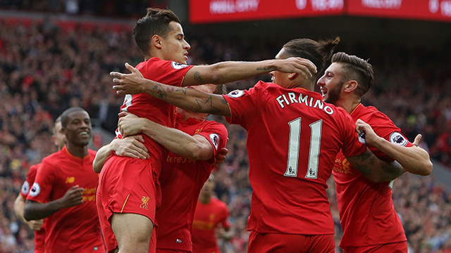 [Video] Cuplikan Gol Liverpool 5-1 Hull City (Liga Inggris)