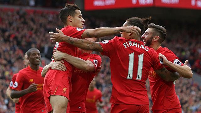 [Video] Cuplikan Gol Liverpool 5-1 Hull City (Liga Inggris)