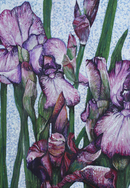 Iris paintings. Same subject, different results!