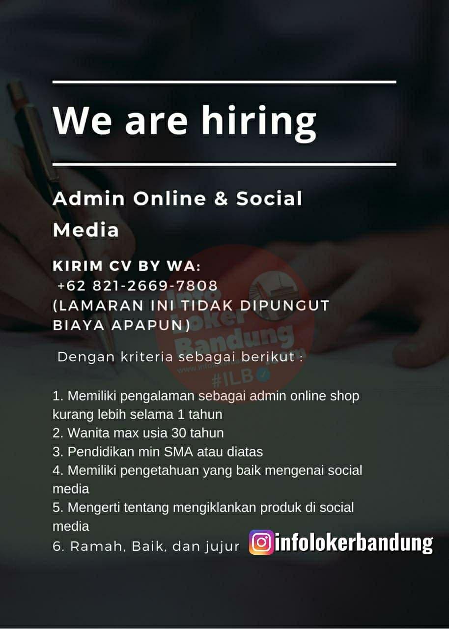 Lowongan Kerja Admin Online & Social Media Bandung Desember 2020