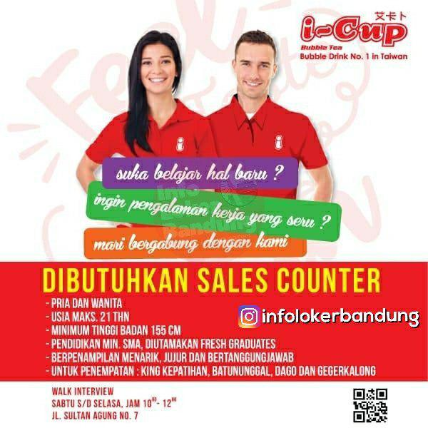 Walk In Interview I-Cup Bubble Drink Bandung Januari 2019