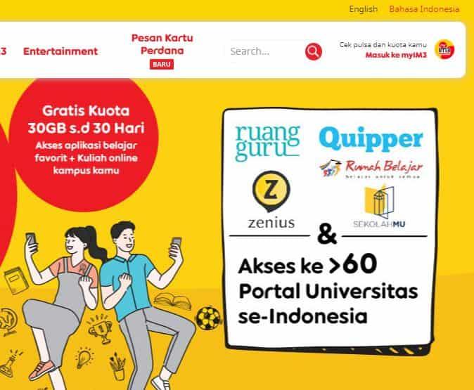 kuota gratis indosat ooredoo 30 gb terbaru 2020