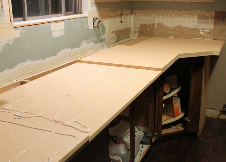 Gluing Down Formica Wood