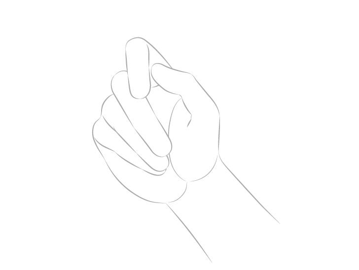 Gambar tangan memegang sumpit palm view arm