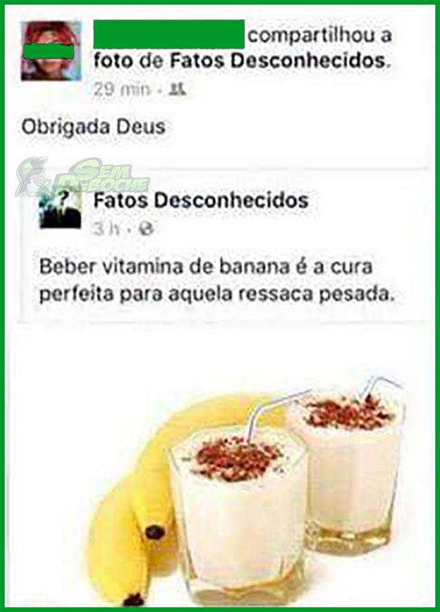 DESCOBRIRAM A CURA PRA RESSACA