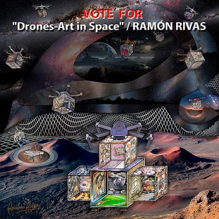 """""""Drones-Art in the Space"""", obra de Ramón Rivas presentada a las Nominaciones """"THE GLOBAL ART AWARDS 2021 en Tokio"""