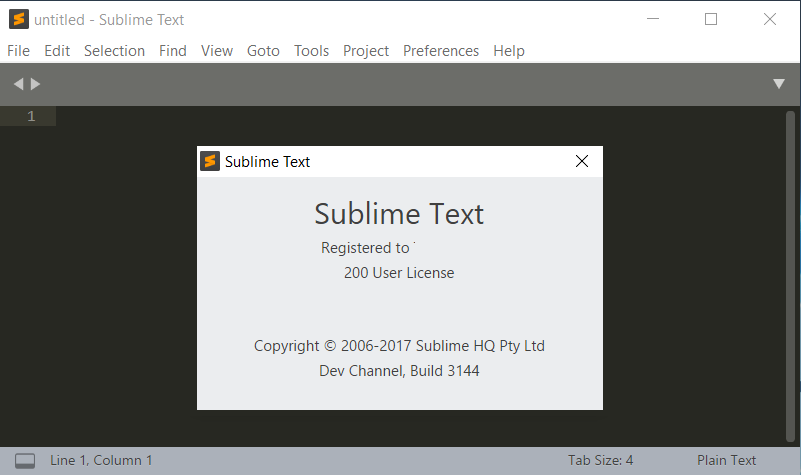 Sublime Text 3 Build 3144