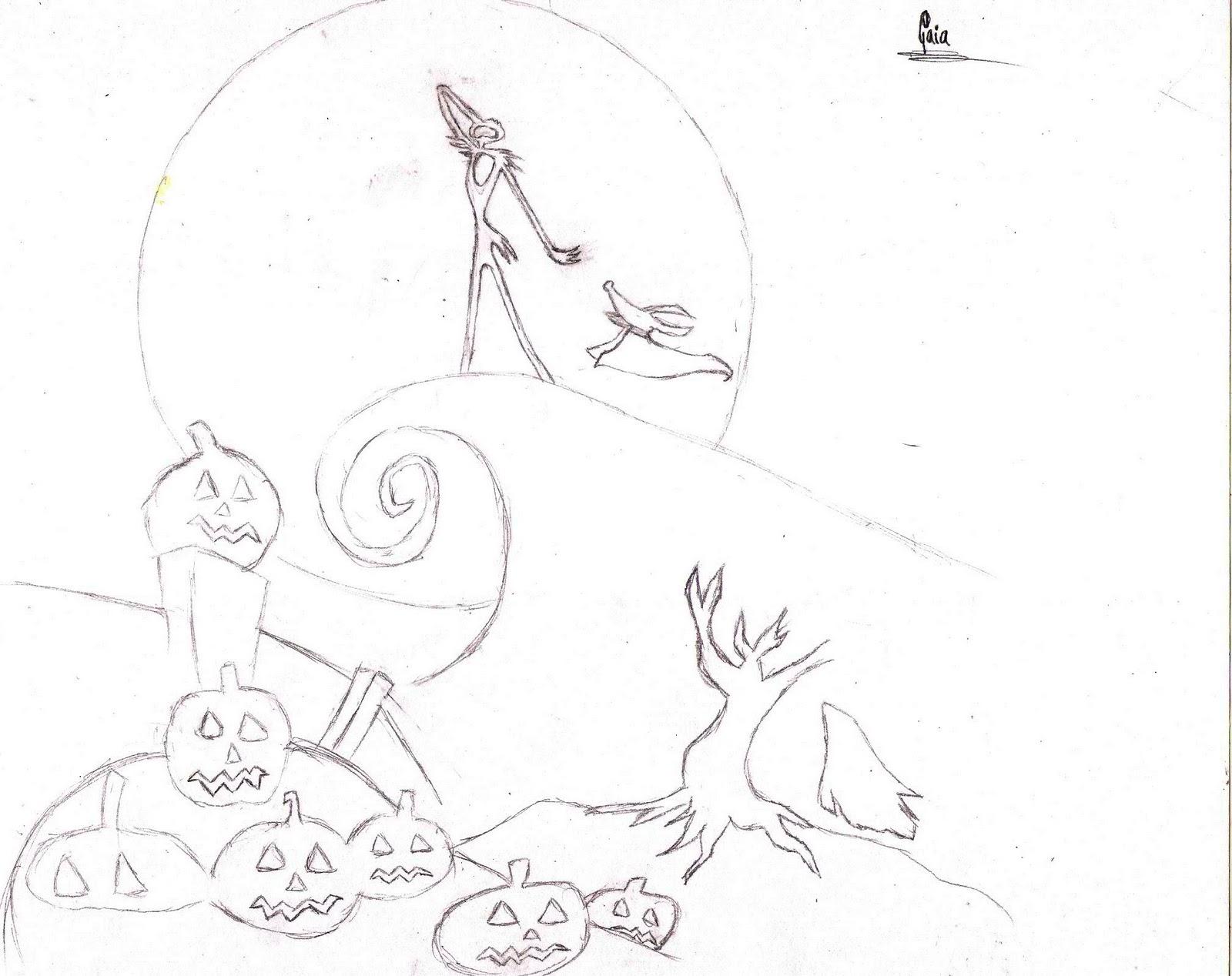 Dibujos Para Colorear De Jack Skeleton