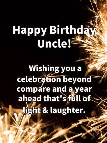 Happy Birthday Greetings to Uncle in Prose