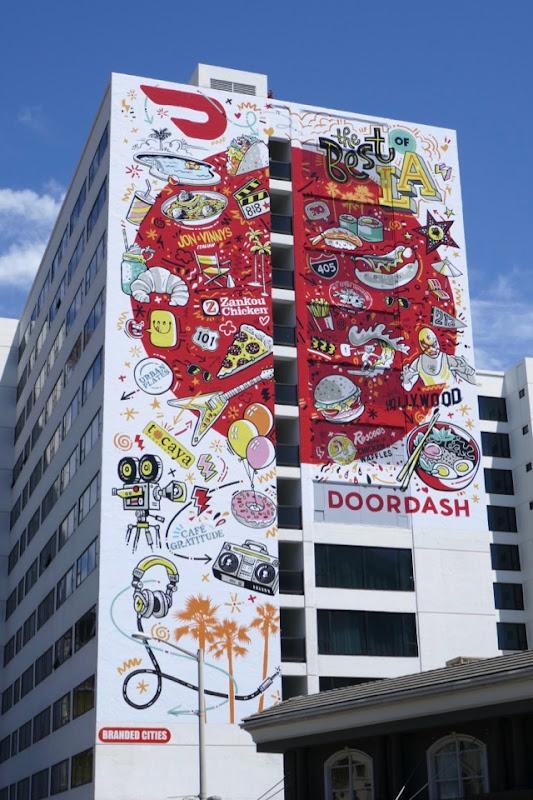 Giant DoorDash Best of LA billboard