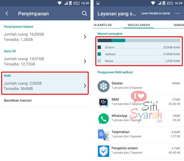 perbedaan rom dan ram pada android