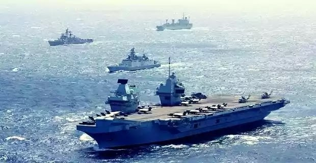 UK Carrier Strike Group Starts Maritime Exercises With Indian Navy