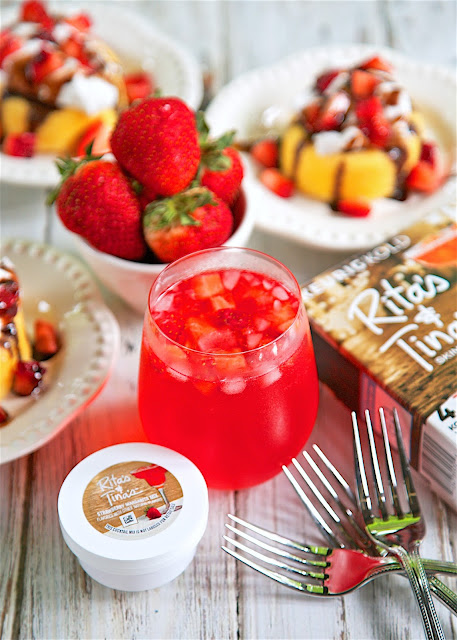 Strawberry Shortcake Cocktail - super refreshing summer cocktail with only 3 ingredients. This is our signature summer drink!
