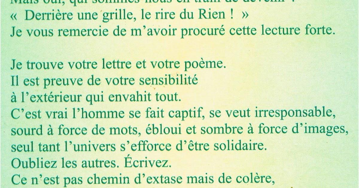 Le Blog De Colette Maestri Correspondance De Poètes
