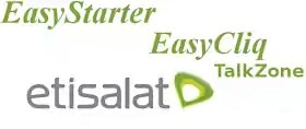 etisalat easy starter, easycliq and talkzone tariff