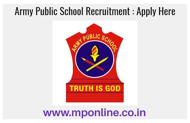 Army Public School Vacancy 2020